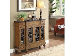 vidi oak wood 3 drawer accent console