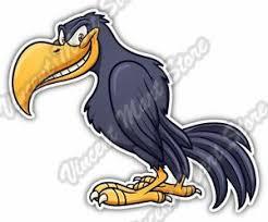 Crow Raven Bird Cartoon Funny Smile Car Bumper Window Vinyl Sticker Decal 4 X5 Ebay