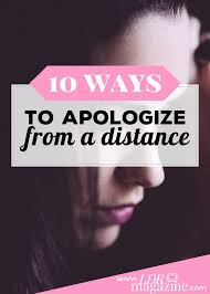 10 ways to apologize from a distance