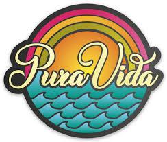 Pura Vida Rainbow Sticker Pura Vida Volleyball