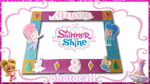 Photocall De Shimmer And Shine Diy Youtube