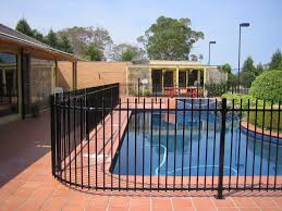 Swimming Pool Fencing Concepts In Melbourne Steel Fence Panels Pool Fence Fence Around Pool
