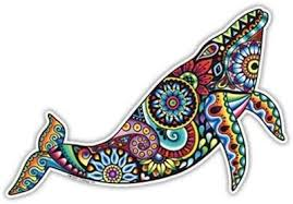 Amazon Com Blue Whale Sticker Colorful Decal By Megan J Designs Laptop Window Car Vinyl Sticker Automotive