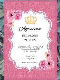 20 Invitacion Corona Flores Cumpleanos 15 Anos Casamiento 480