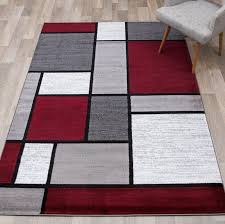 brampt geometric red area rug with