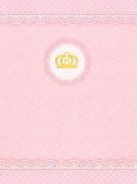 Corona Dorada Y Encaje Rosa Invitaciones Para Imprimir Gratis