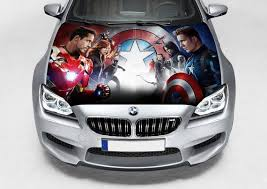 Vinyl Car Hood Bonnet Avengers Civil War Decal Sticker Fit Any Etsy