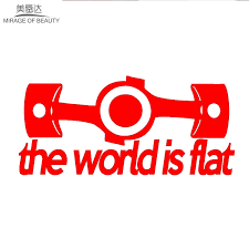 20cm 8cm Peace Sign The World Is Flat Car Sticker For Motorhome Window Motorcycles Door Laptop Car Styling Vinyl Decal Stickers For Vinyl Decalstickers Stickers Aliexpress