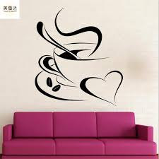 Wall Vinyl Sticker Decal Quote Coffee Cup Kitchen Decals Cafe Window Decor Wall Stickers Aliexpress