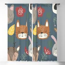 Woodland Animals Blackout Curtains For Any Room Or Decor Style Society6
