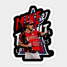 Mike Trout Mike Trout Sticker Teepublic