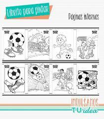 Librito Para Colorear Cumple De Futbol