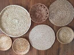 set of 7 wall hanging baskets wall