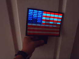 Sound Activated Light Up American Flag Car Window Decal