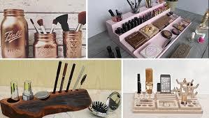 makeup organizer beauty station ideas