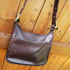 vintage coach chocolate brown leather