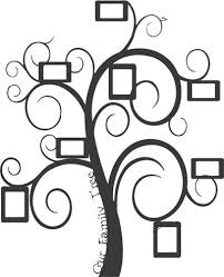 Family Frame Tree Wall Decal Family Frames Family Tree Wall Tree Wall Decal