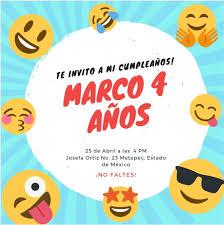 25 Invitaciones De Cumpleanos Emojis Para Nino A 259 00 En