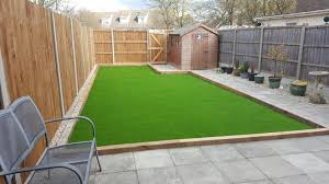 Artificial Grass And New Fence Panels For A Complete New Garden