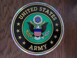 U S Military Army Crest Logo Oversized Large Window Decal Sticker 12 Inches Ebay