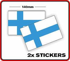Finnish Country Finland Flag Sticker Decal X2 Bumper Car Window Vinyl Scrapbook Ebay