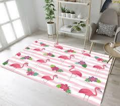 Cartoon Flamingo Floral Floor Mat Rug Kids Bedroom Carpet Living Room Area Rugs Ebay