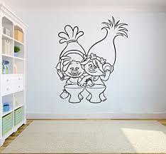 Amazon Com Poppy And Dj Suki Trolls Wall Vinyl Decal Home Interior Sticker Kid Room Graphic Child Bedroom Applique Trolls3 Home Improvement