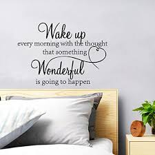 Amazon Com Supzone Wake Up Every Morning Wall Stickers Lettering Sticker Quotes Sayings Wall Decals Removable Vinyl Living Room Bedroom Nursery Room Heart Wall Decor Kitchen Dining