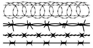 Razor Wire Stock Vector Illustration And Royalty Free Razor Wire Clipart