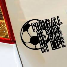 Soccer My Sport Game Life Hobby Car Window Sticker Art Decal Vinyl Stickers Kids Car Stickers Aliexpress