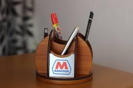 corporate gift novelties wooden desk