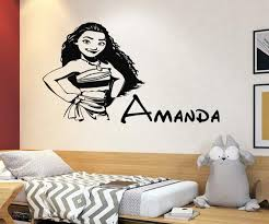 Disney Princess Moana Name Wall Decals For Girls Nursery Decor Etsy