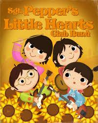 Sgt. Pepper's Little Hearts Club Band 8x10 PRINT | Etsy