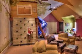 Kids Play Room Fort Tree House Rock Climbing Wall Cozy Chairs Window Seat Reading Nook And Slide Dream Rooms Cool Rooms Playroom Design