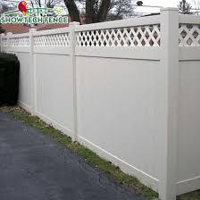 China Hot Popular 6 H 8 W Used Pvc Vinyl Privacy Lattice Fence Panels China Vinyl Fence Pool Fence
