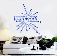 Teamwork Words Quote Vinyl Wall Decals Office Decor Business Decal Diy Self Adhesive Wall Stickers Removable Art Wallpaper Wall Decor Sticker Wall Decor Stickers From Joystickers 15 65 Dhgate Com