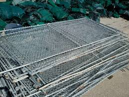 Used Chain Link Temporary Fence Panels Repurposed Materials