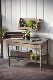 potting table with zinc top potting