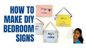 How To Make Bedroom Door Signs Youtube