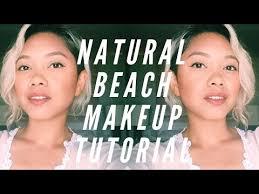 natural beach makeup tutorial