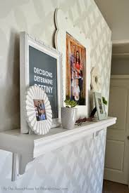 mantel shelf ideas without a fireplace