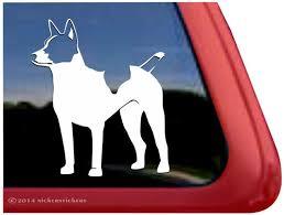 Custom Decker Rat Terrier Dog Decals Stickers Nickerstickers