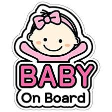 Amazon Com Geekbear Baby On Board Sticker And Decal For Girl Baby Bumper Car Sticker Baby Window Car Sticker Baby In Car Sticker Cute Safety Caution Decal Sign For Cars Baby
