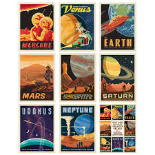 Solar System Planets Vinyl Decal Set Of 16 At Retro Planet