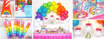 Unicorn Party Supplies Birthday Decorations Invitations Ideas Tableware Balloons