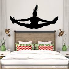 Dancing Girl Wall Decal Vinyl Home Decor Teens Girls Bedroom Art Mural Removable Custom Colors Wallpaper Vinilos Paredes Child Wall Stickers Children Wall Decals From Joystickers 11 4 Dhgate Com