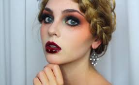 goth makeup for halloween striking