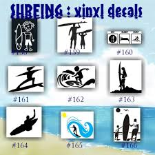 Surfing Vinyl Decals 158 166 Vinyl Stickers Car Window Decal Personalized Stickers Surfer Surfer Girl Car Decals Surfer Decal