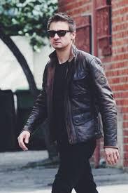 jeremy wearing black t shirt black