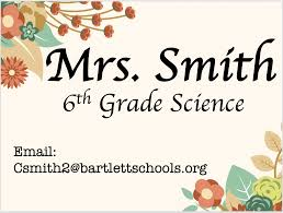 Welcome to Mrs. Smith Science Class – Chandra Smith – Bon Lin Middle School